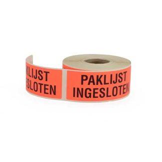 Etiket-rood-paklijst-ingesloten